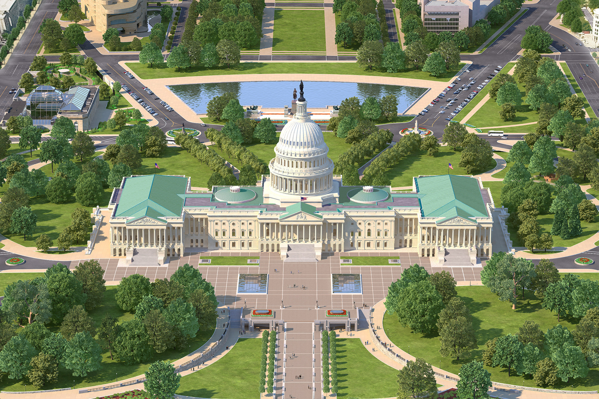 Photorealistic D Maps - Map of the us capitol