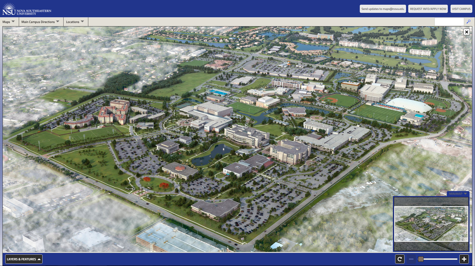 Pepperdine Malibu Campus Map.Virtual Tour Or Interactive Map