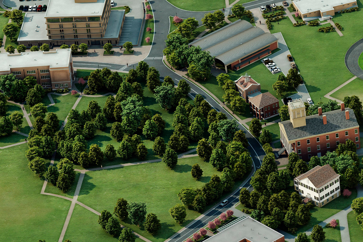 Alcorn State University Campus Map.Photo Realistic Map Artwork Alcorn State University
