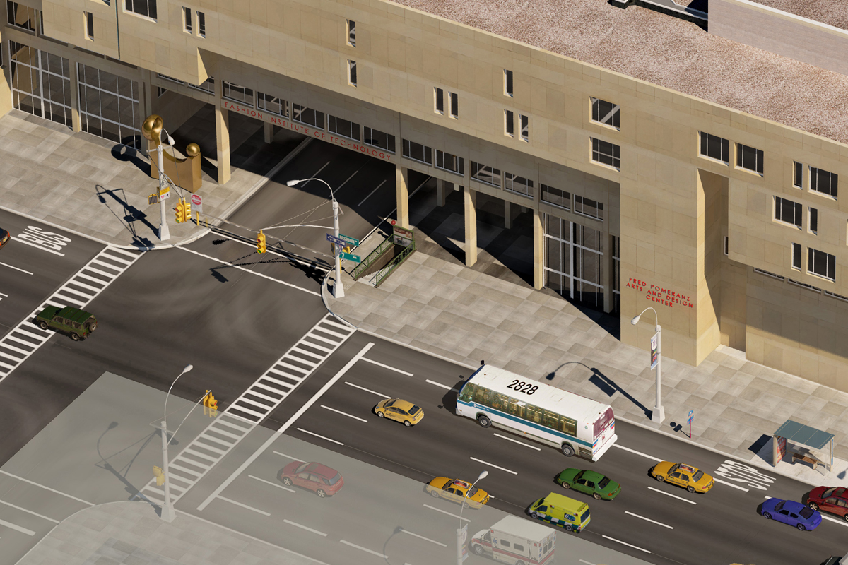 Photo realistic map artwork the fashion institute of for Northwestern virtual tour