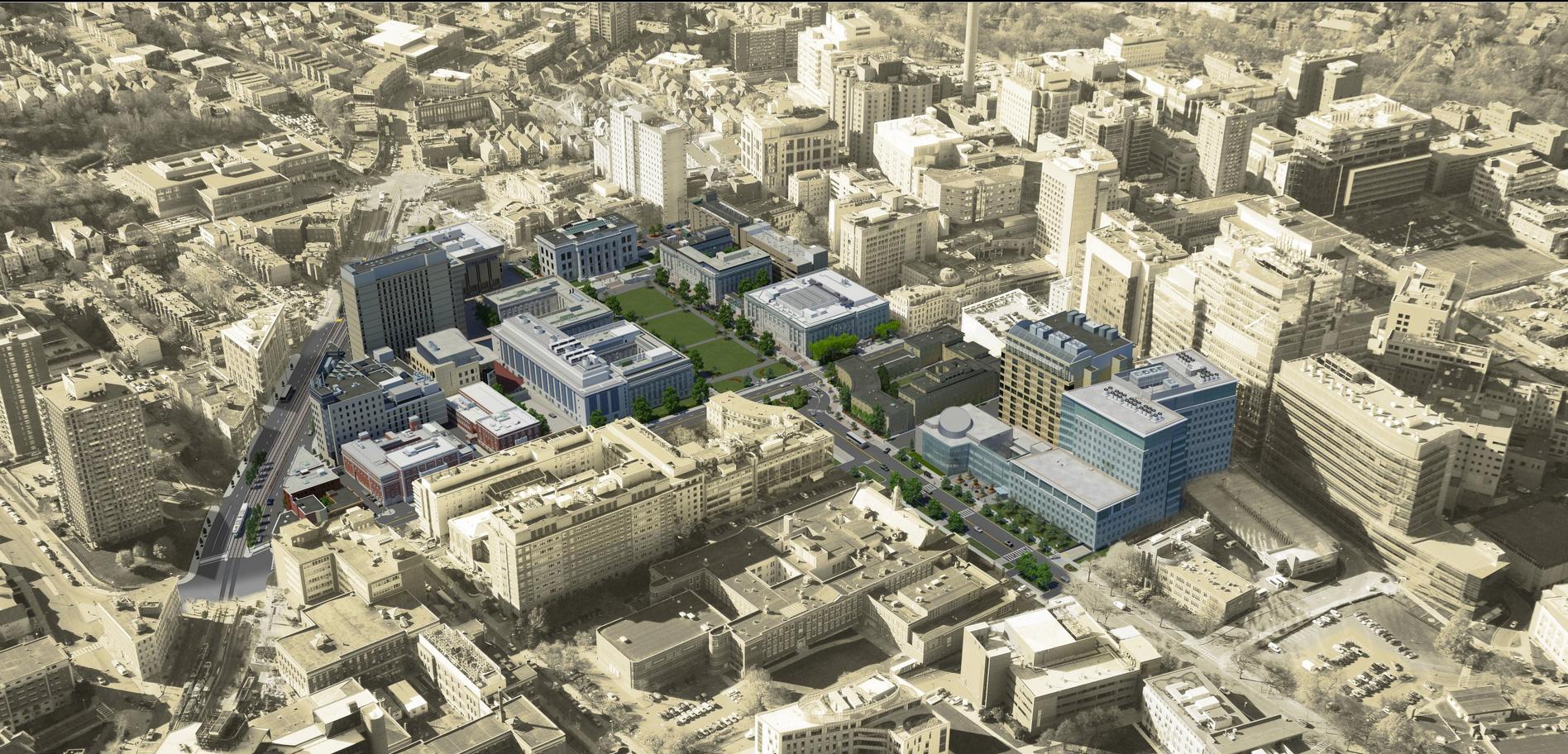 Photo Realistic Map Artwork Harvard Medical School