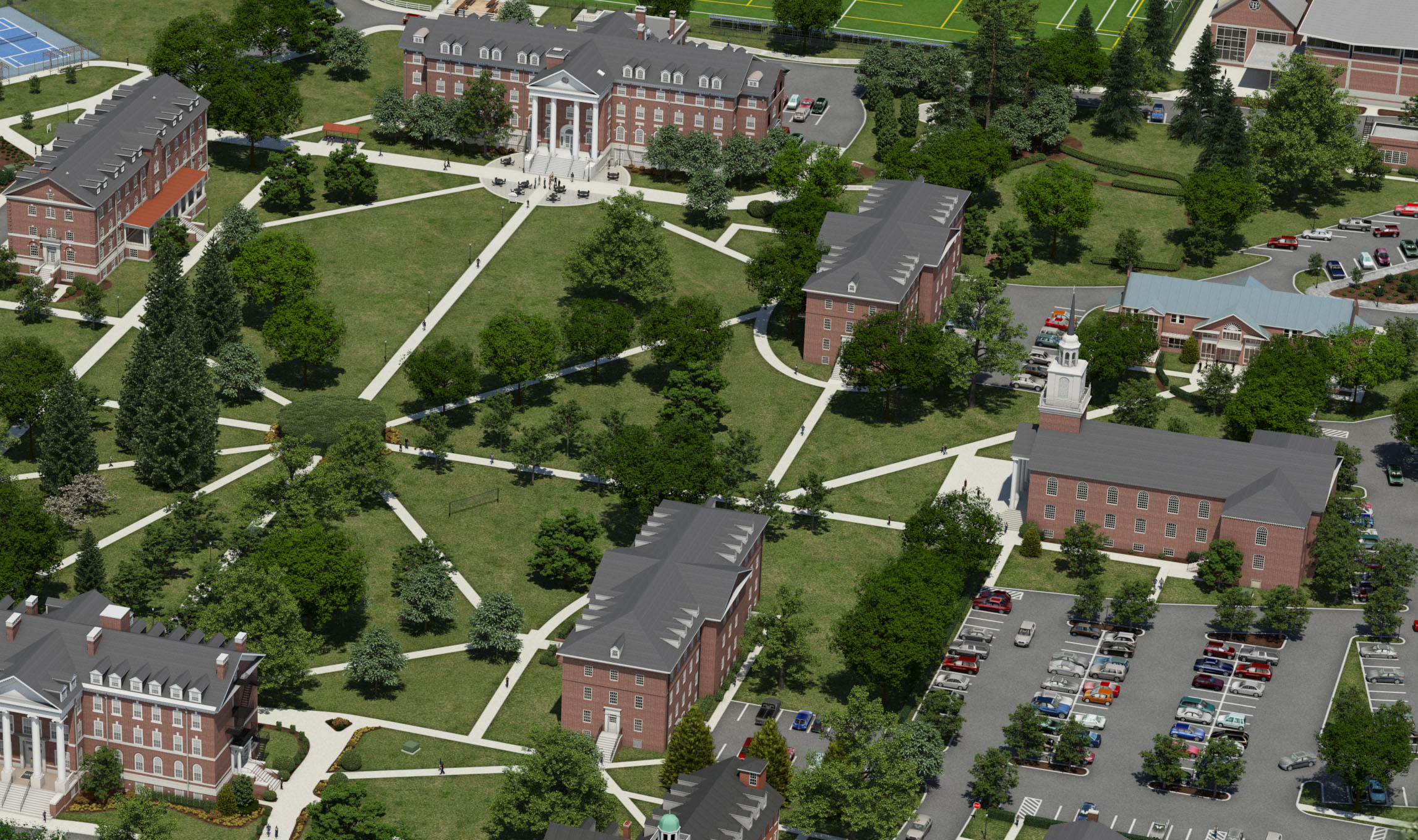 hood college campus map Photo Realistic Map Artwork Hood College hood college campus map