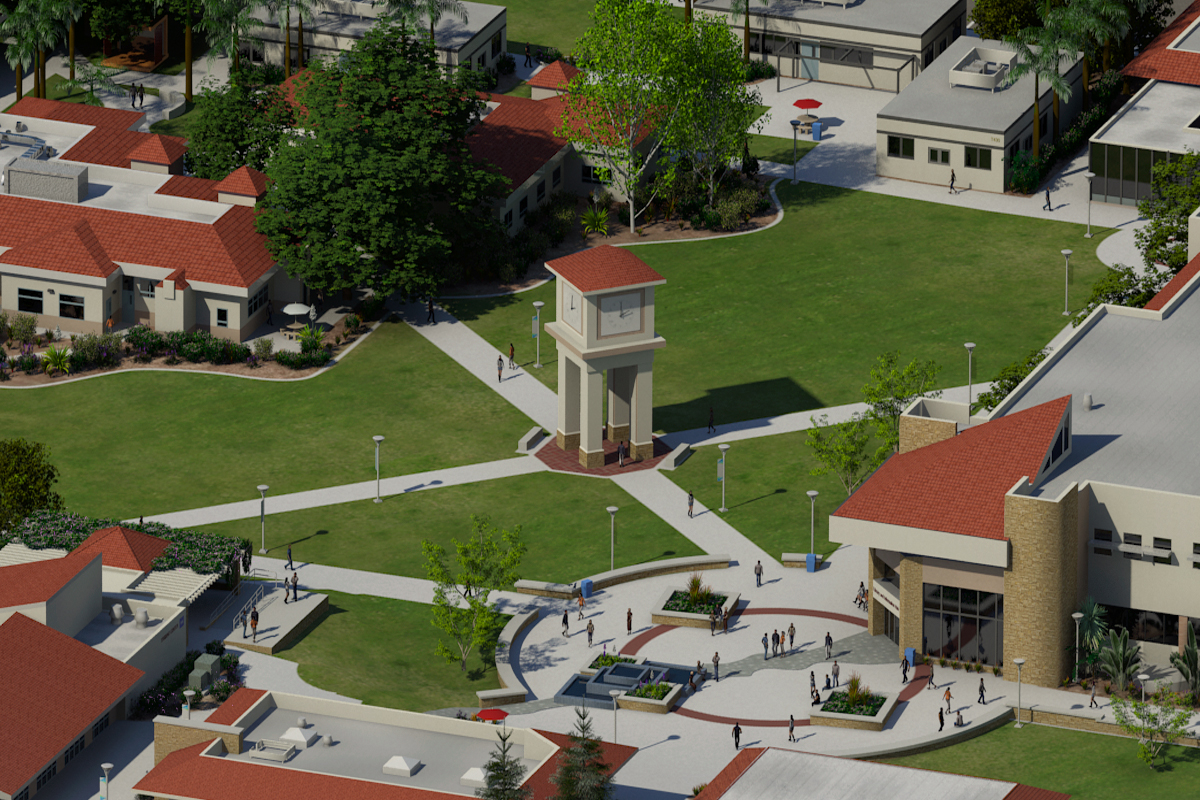 Photo Realistic Map Artwork: MiraCosta College