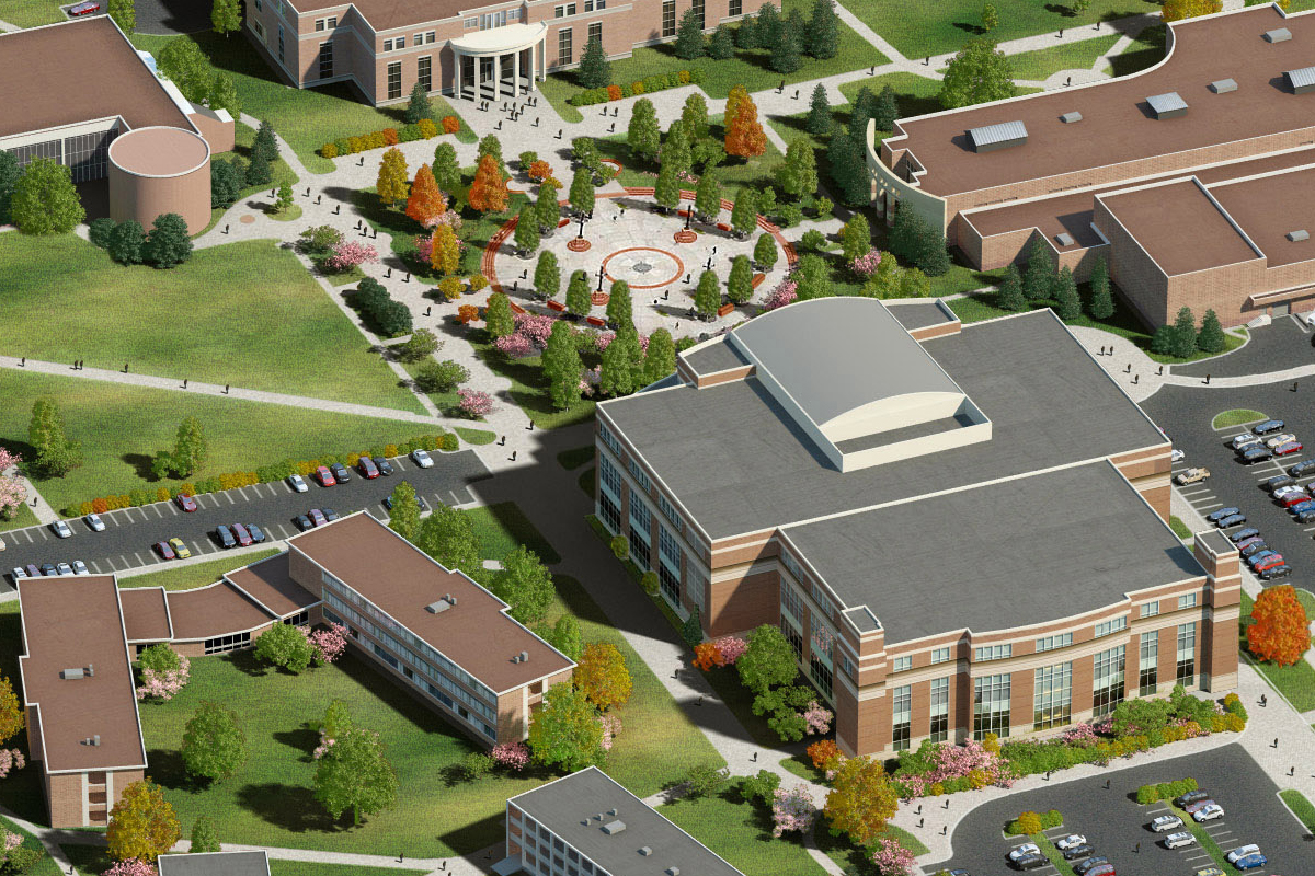Middle Tennessee State University >> Photo Realistic Map Artwork Middle Tennessee State University