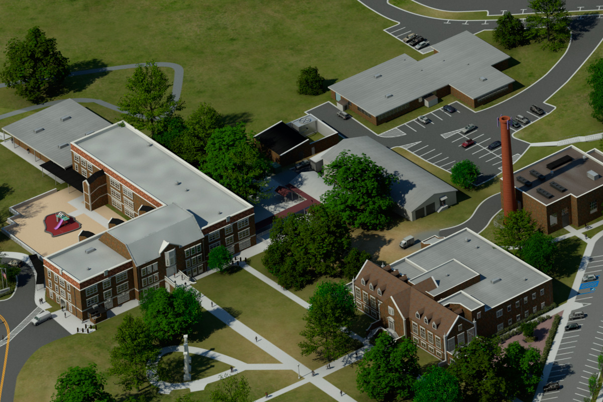 Photo realistic map artwork northwestern state university for Northwestern virtual tour