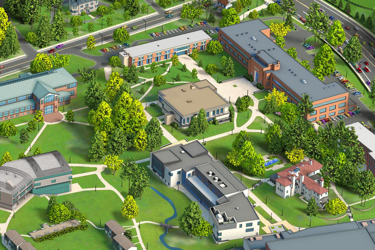 D Vector Map Artwork Philadelphia University - Philadelphia university map