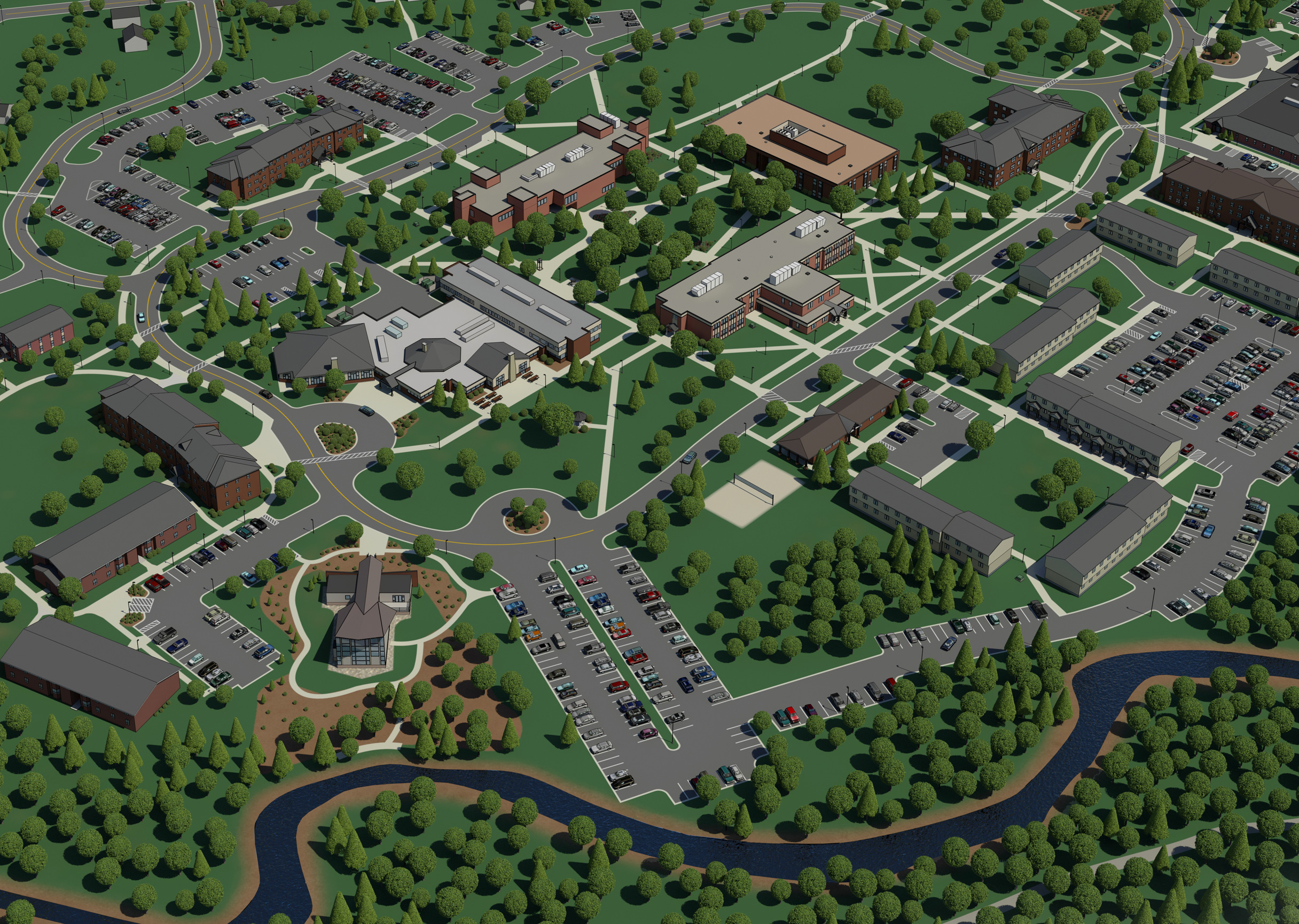 3D Vector Map Artwork: University of Pittsburgh at dford on